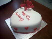 Shooting Hearts 40th Wedding Anniversary Cake Benidorm
