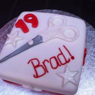Hairdresser Themed 19th Birthday Cake Benidorm