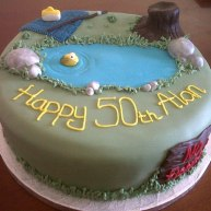 Fishing Themed 50th Birthday Cake Benidorm