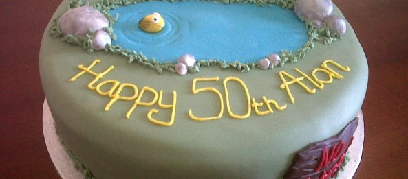 50th Birthday Fishing Cake
