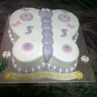Butterfly 5th Birthday Cake Benidorm