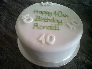 Ronald 40th birthday cake benidorm
