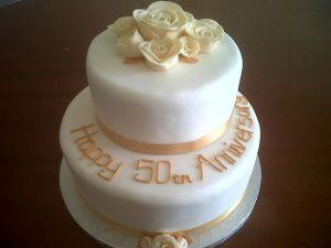 2 Tier 50th Anniversary Cake Benidorm Costa Blanca