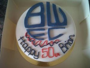 Bolton Wanderers Football Themed Birthday Cake Benidorm Costa Blanca