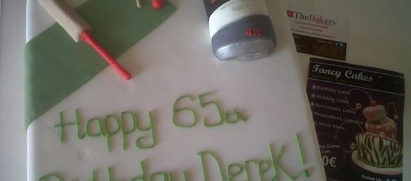 Cricket Beer Themed 65th Birthday Cake