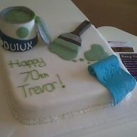 Dulux Paint 70th Birthday Cake Benidorm