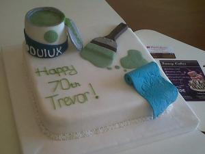 painting and decorating 70th birthday cake benidorm costa blanca