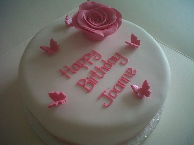 Pink Rose Birthday Cake Fancycakesbenidorm
