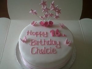 16th Birthday pink roses Birthday Cake Costa Blanca