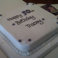 Lilac Petal 5oth Birthday Cake Benidorm