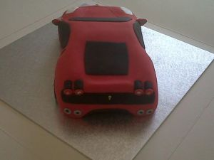 Ferrari F430 Birthday Cake Rear
