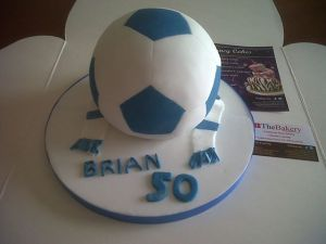Football Themed 50th Birthday Cake Benidorm Costa Blanca