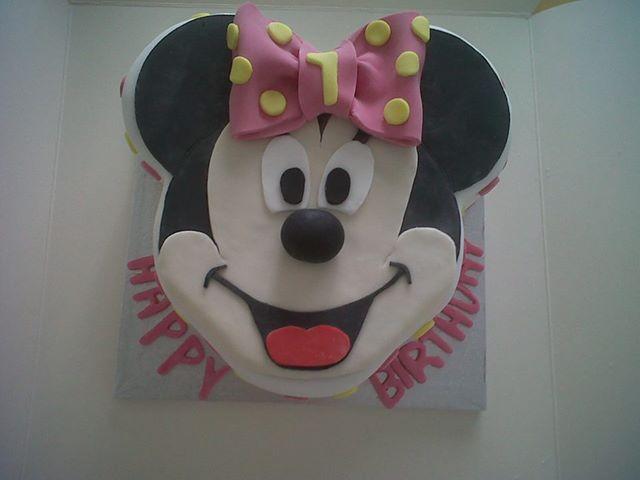 Remarkable Minnie Mouse Birthday Cake Fancycakesbenidorm Birthday Cards Printable Inklcafe Filternl