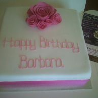 Triple Pink Birthday Cake Benidorm