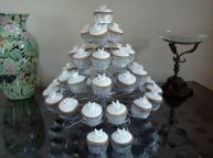 White Wedding Cupcake Tower Benidorm