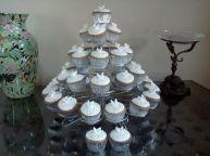 White Wedding Cupcake Tower Benidorm