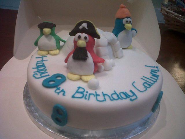 Tremendous Disney Club Penguin Birthday Cake Fancycakesbenidorm Funny Birthday Cards Online Alyptdamsfinfo