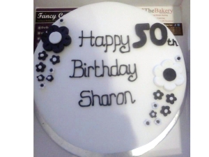 Flower 50th Birthday Cake Shop Benidorm Costa Blanca