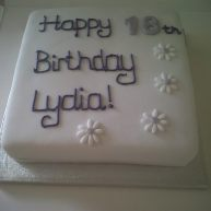 Purple 18th Birthday Cake Benidorm