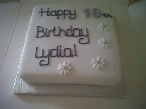 Lydia 18th Birthday Cake maker Benidorm Costa Blanca