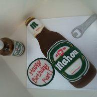 Mahou Bottle Birthday Cake Benidorm