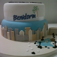 Benidorm Themed Birthday Cake
