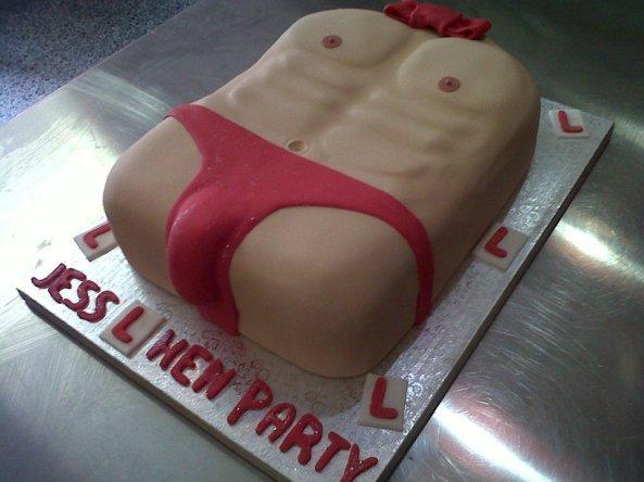 Fancy Cakes Mens torso Hen Cake Benidorm
