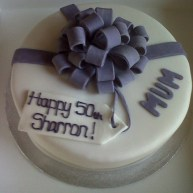 Lilac 50th Birthday Cake Benidorm