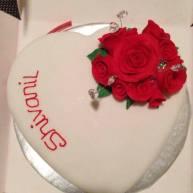 Red Rose Anniversary Cake Benidorm