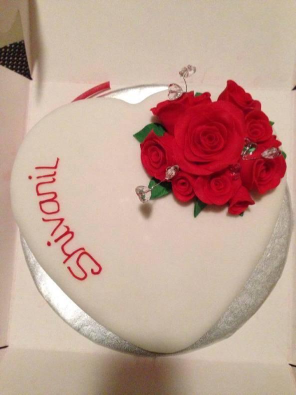 Handmade Roses Birthday Cake Benidorm albir alfaz